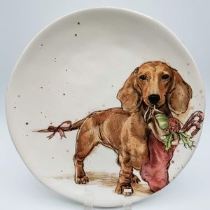 Southern Living Holiday Dachshund Plate - Frankie